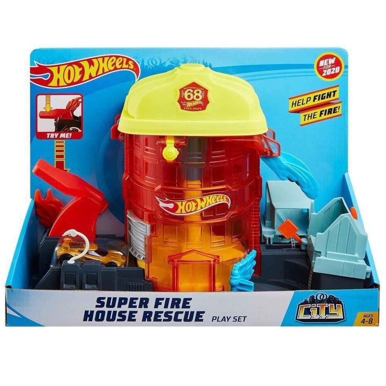 Brinquedo Hot Wheels - Super Quartel dos Bombeiros - Mattel