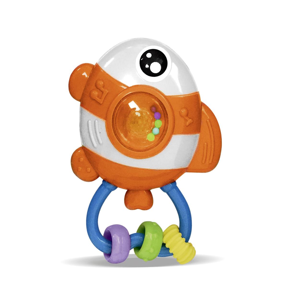 Chocalho para bebê 6 meses musical luzes e som infantil peixinho palhaço Zoop