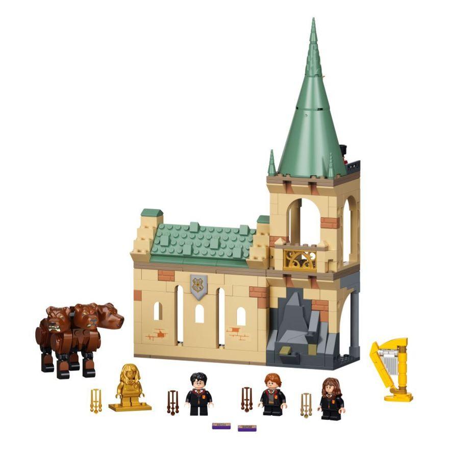 Bloco-de-Montar---Harry-Potter---HogwartsT---Fluffy-Encounter---Lego-3