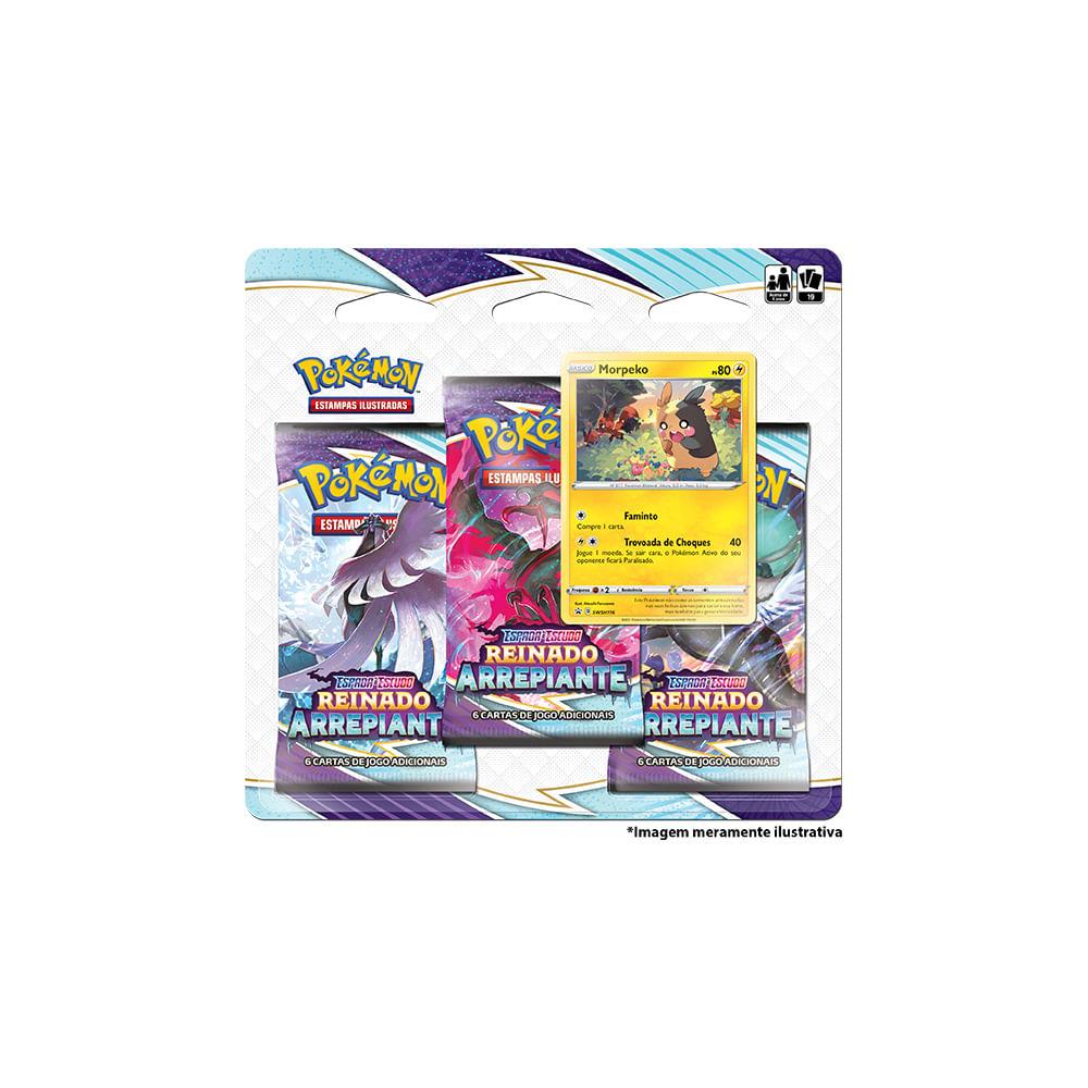 Jogo Pokémon - Blister Triplo - Reinado Arrepiante - Morpeko - Copag