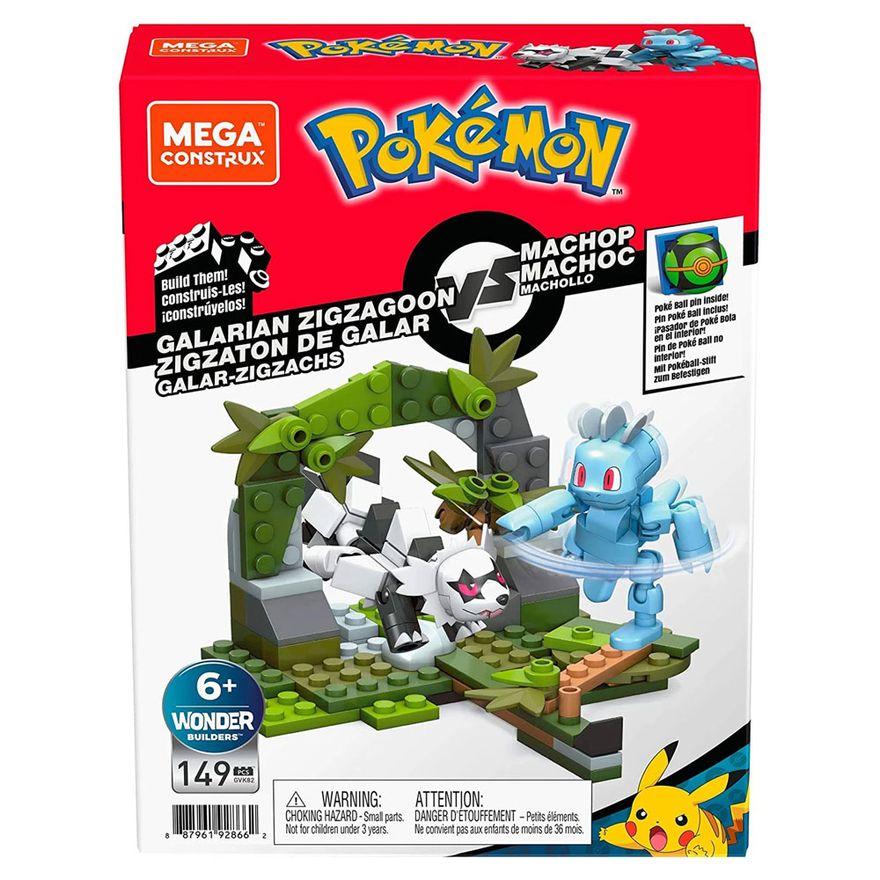 Blocos-de-Montar---Mega-Construx---Playset-de-Batalha---Pokemon---Galarian-Zigzagoon-vs-Machop---Mattel_Frente