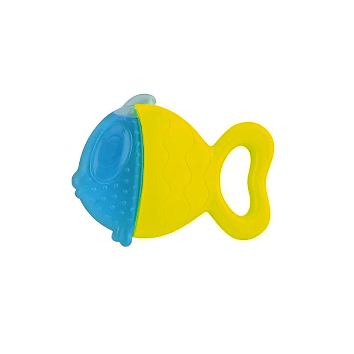 Mordedor para bebê infantil 0 a 18 meses Peixinho Amarelo