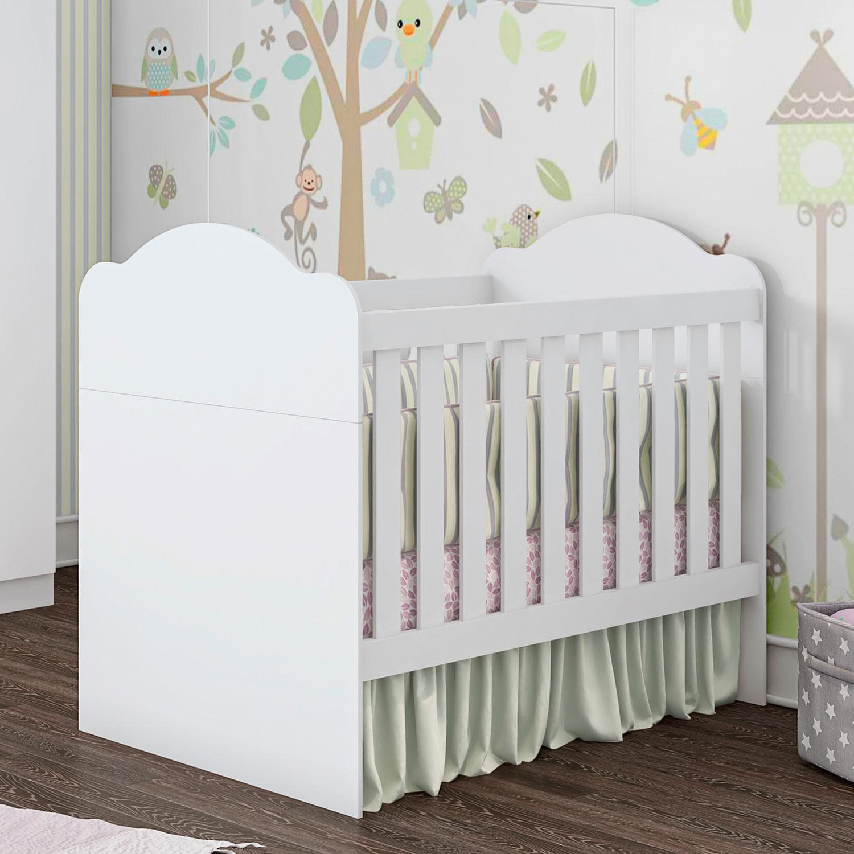 Berço Mini Cama Montessori 3 em 1 Yupi 70 Branco Atóxico  Móveis Estrela