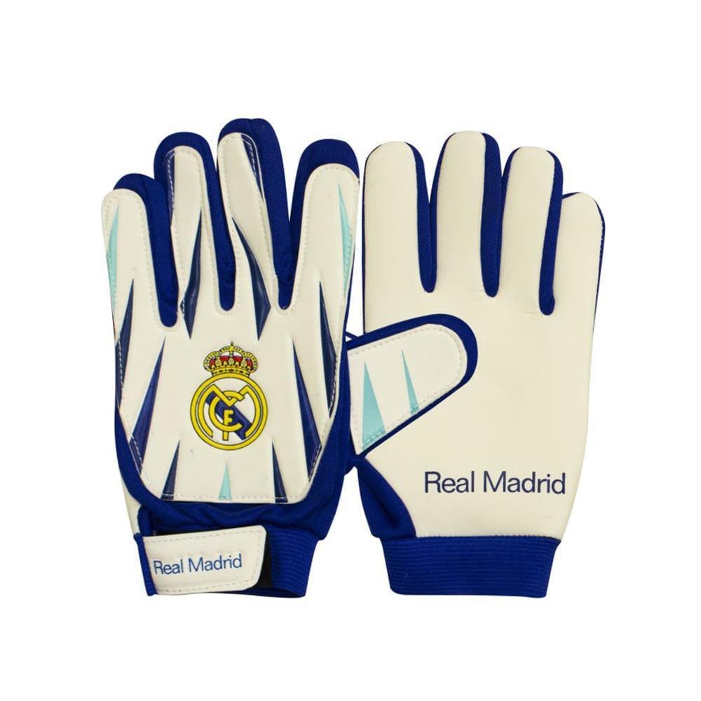 Luva Goleiro Infantil - Real Madrid - Tamanho 5 - Sportcom