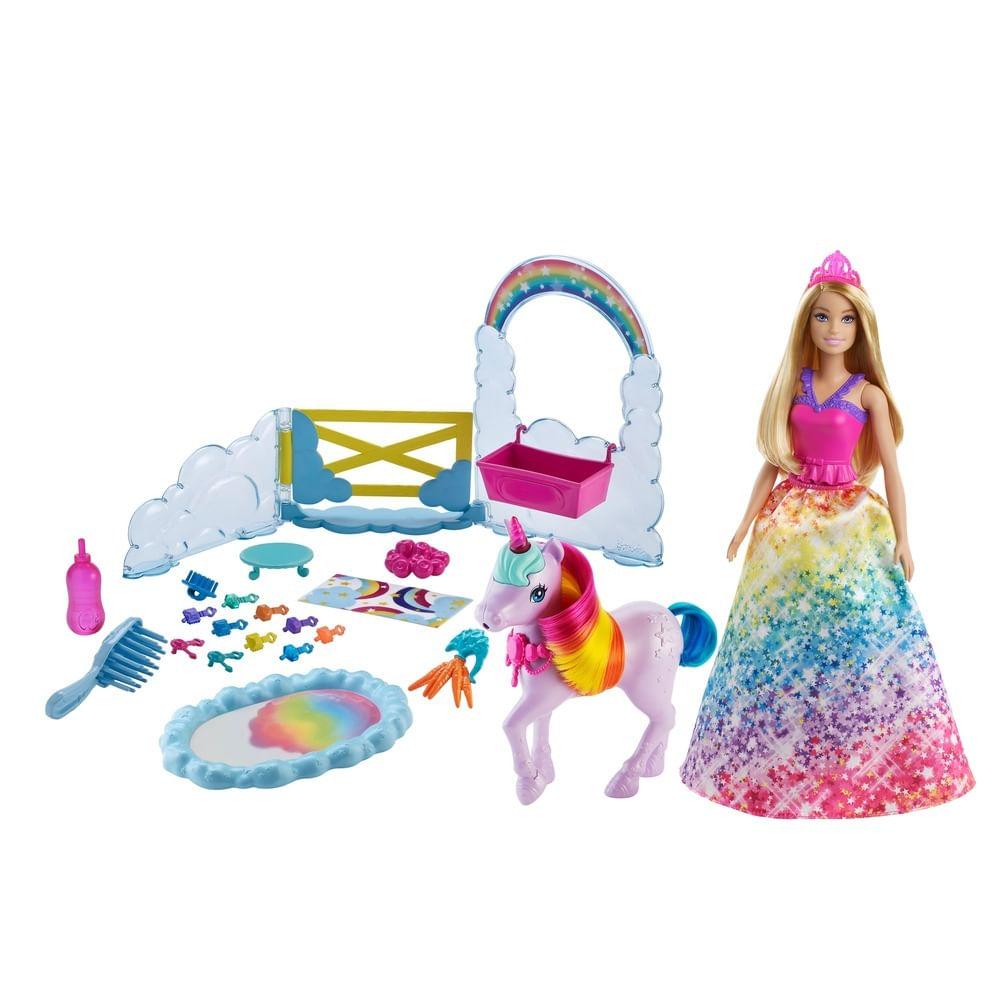 Boneca Barbie - Dreamtopia - Unicórnio Arco Íris - Mattel