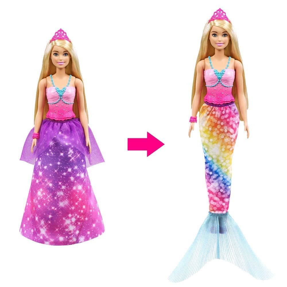 Barbie - Dreamtopia - Barbie Princesa Fashion 2 em 1 - Mattel