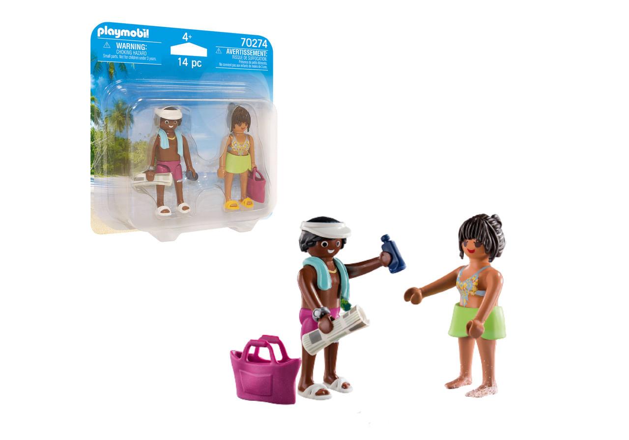 Playmobil - Pack 2 Figuras Casal de Férias Acessórios 70274