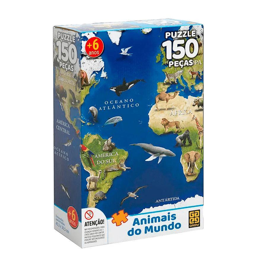 Quebra-Cabeca-Animais-do-Mundo---150-pecas---Grow_Frente