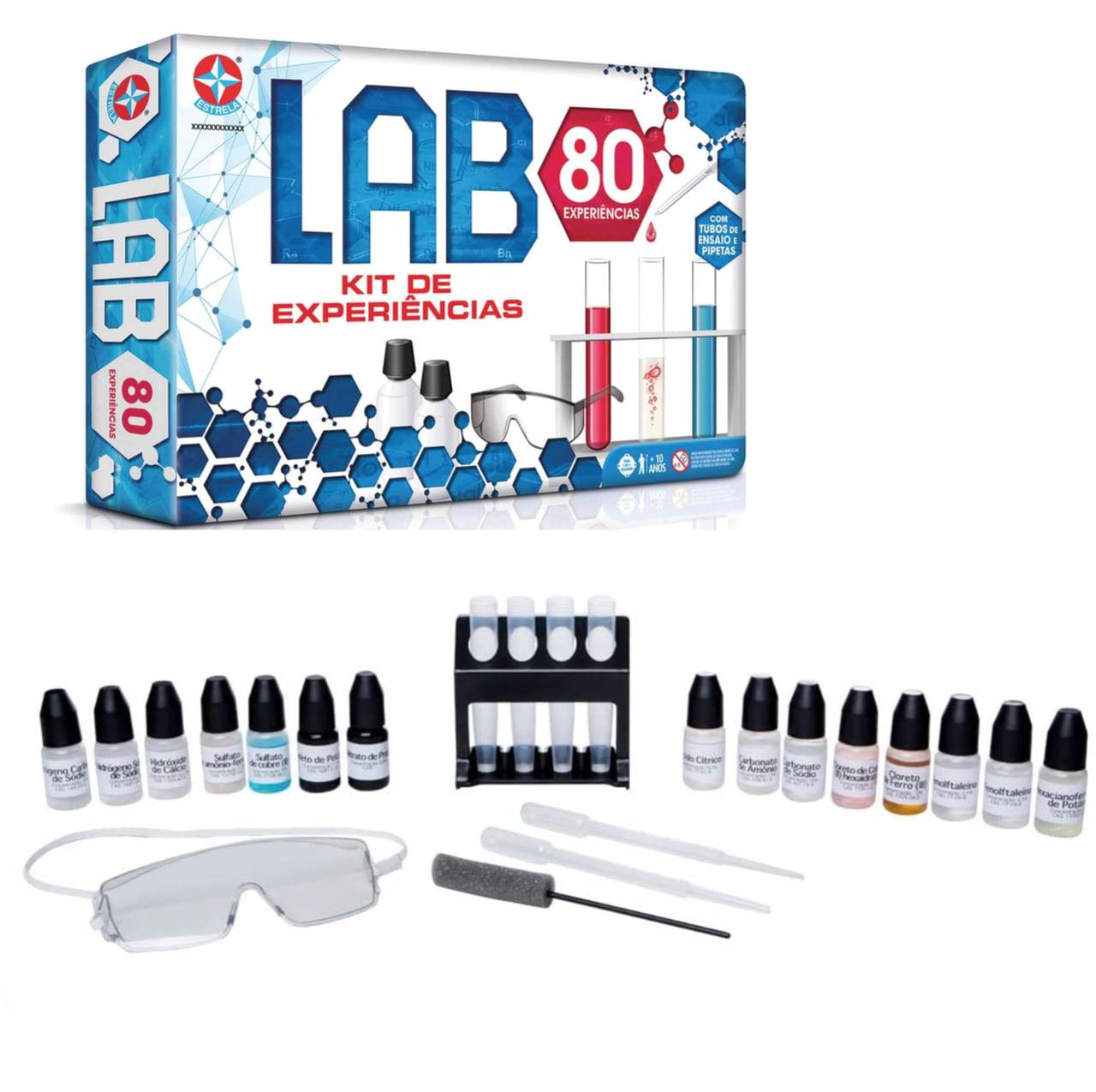 Jogo Lab 80 - Laboratório Experiências - Brinquedos Estrela
