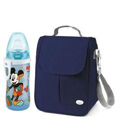Kit-de-Bolsa-Termica-Azul-e-Copo-de-Treinamento---300Ml---Junior-Cup---Disney-by-Britto---Mickey---Nuk