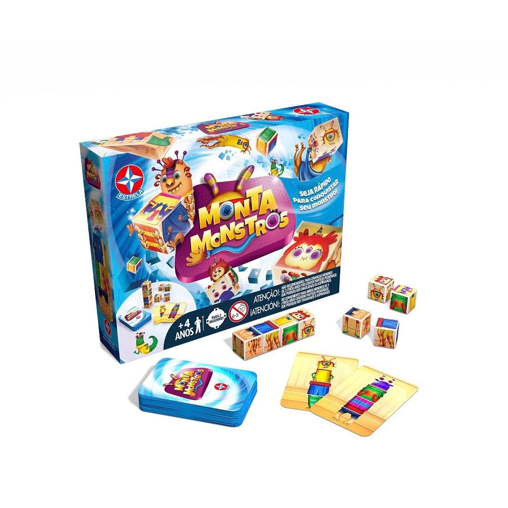 Jogo - Monta Monstros - Número de Jogadores 2 - Estrela