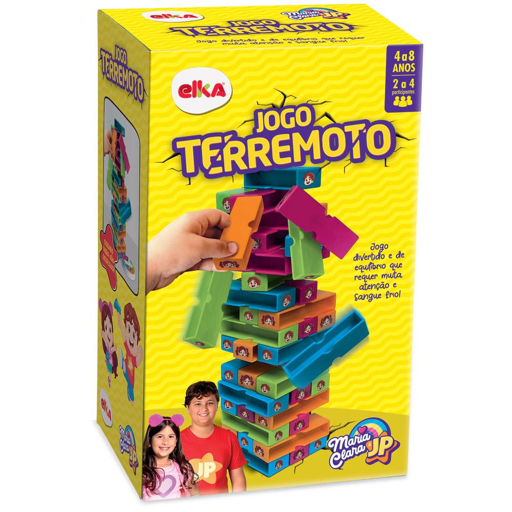 Jogo Terremoto - Maria Clara e JP - 48 Blocos - Número de Jogadores 2 a 4 - Elka