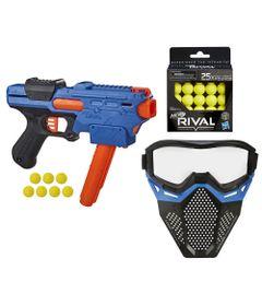 Kit-Nerf---Lancador-Rival-Finisher-XX-700-com-Mascara-de-Protecao-Azul---25-Bolinhas---Hasbro