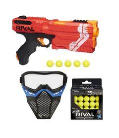 Kit-Nerf---Lancador-Rival-Kronos-Vermelha-com-Mascara-de-Protecao-Azul---25-Bolinhas---Hasbro