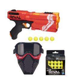 Kit-Nerf---Lancador-Rival-Kronos-Vermelha-com-Mascara-de-Protecao-Vermelha---25-Bolinhas---Hasbro