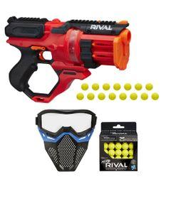 Kit-Nerf---Lancador-Rival-Rounhouse-1500-com-Mascara-de-Protecao-Azul---25-Bolinhas---Hasbro
