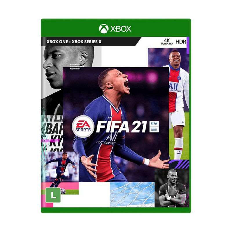 Jogo Fifa 21- Português - X Box One Mídia Física - Ea Sports