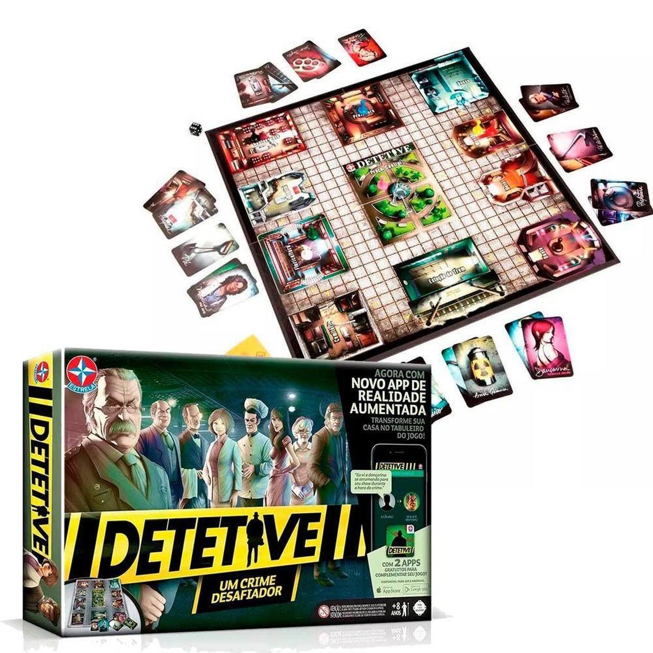 Jogo Detetive  - Um Crime Desafiador com 2 Apps - Estrela