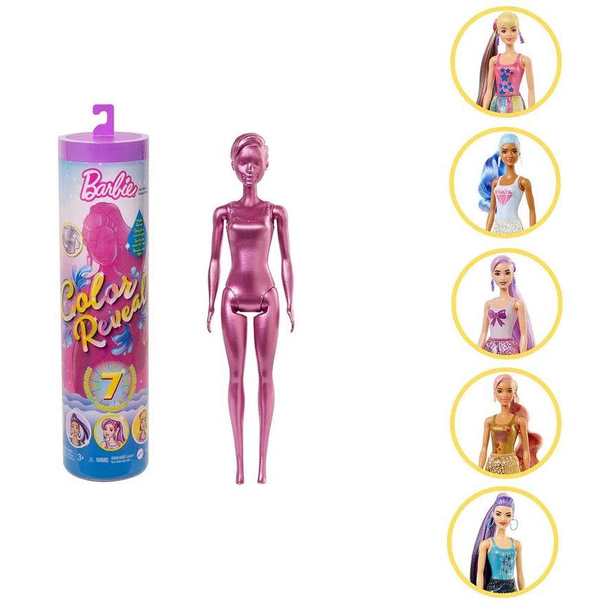Nova-Boneca-Barbie---Fashionista---Color-Reveal---Glitter---Mattel