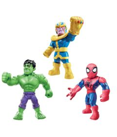 Figuras-Articulados---Marvel---Thanos-Spider-Man-e-Hulk---25-Cm---Hasbro-0