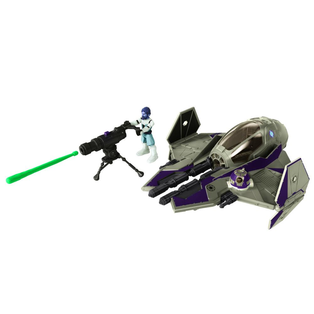 Veículo e Mini Figura Articulada - Disney - Star Wars - Jedi Starfighter - Obi-Wan Kenobi - Hasbro