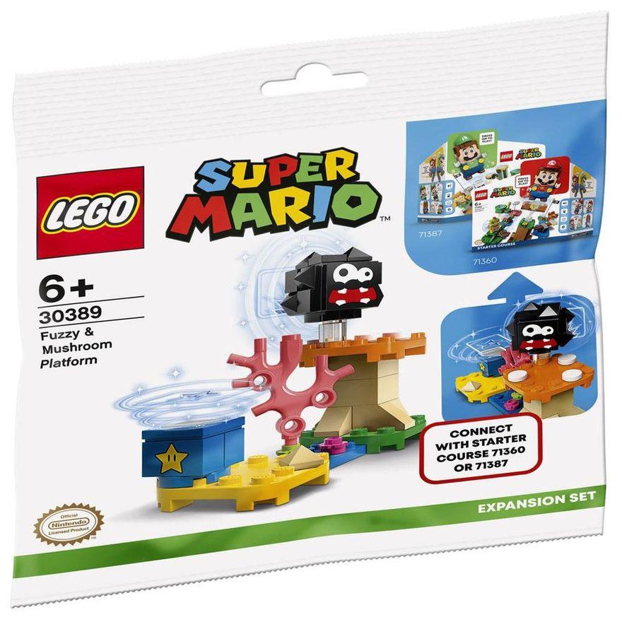 2PRE-VENDA-LEGO-Super-Mario---Aventuras-com-Luigi---Pacote-Inicial---71387-e-Expansao-Plataforma-Cogumelo