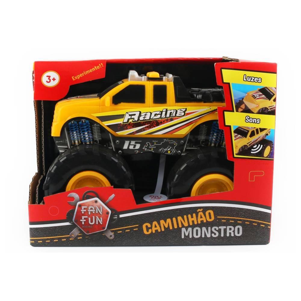 Carrinho - Caminhão Monstro - Amarelo - Fanfun