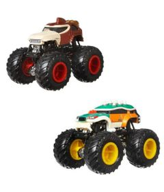 Conjunto-de-Veiculos-Hot-Wheels---Monster-Trucks---Donkey-Kong-Vs-Bowser---Mattel