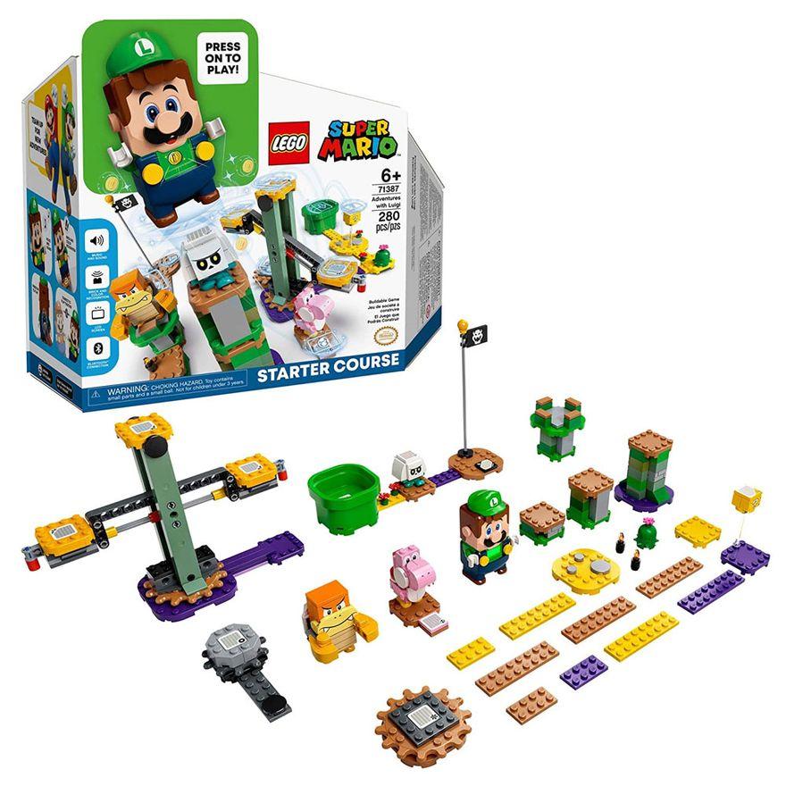 LEGO-Super-Mario---Aventuras-com-Luigi---Pacote-Inicial---71387---Brinde-Expansao--Plataforma-Cogumelo-12