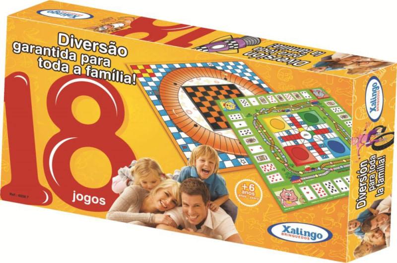 Jogo de Tabuleiro - 18 Jogos - Xalingo 65587