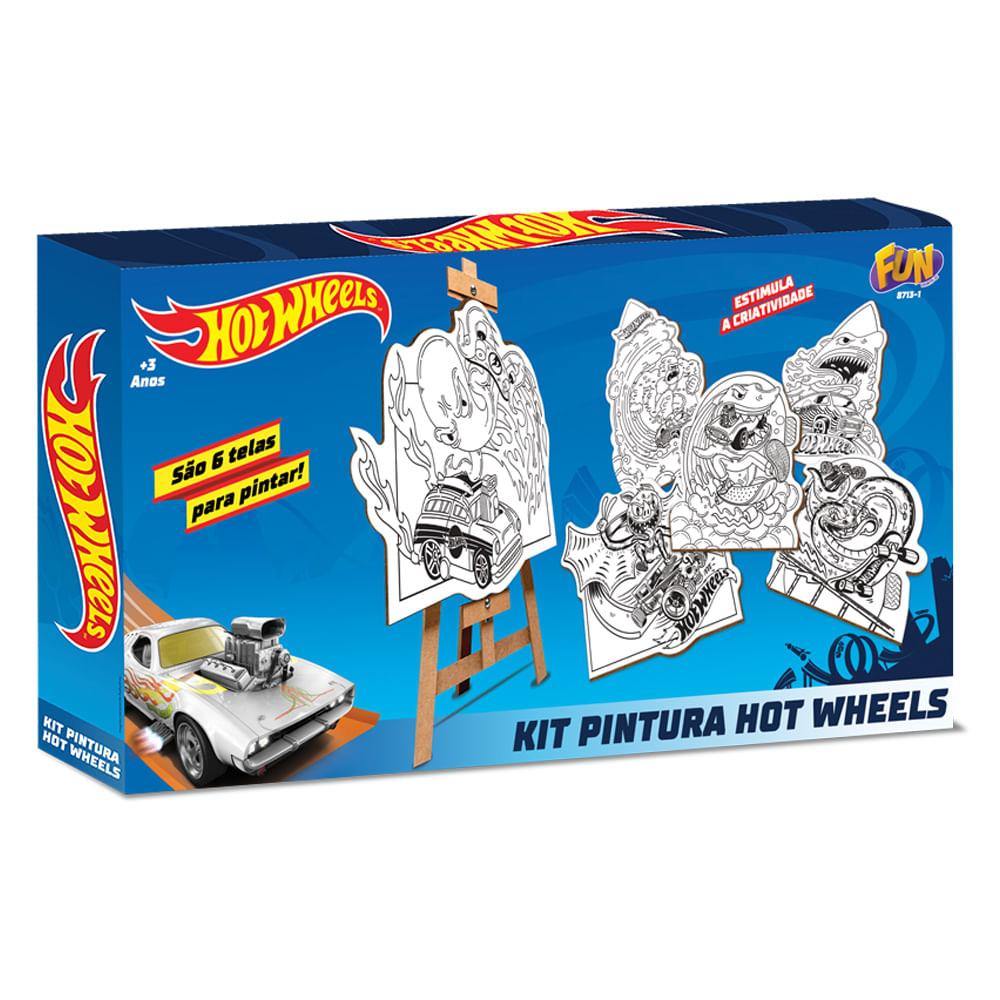 Kit de Pintura - Hot Wheels - com 6 Telas - Fun