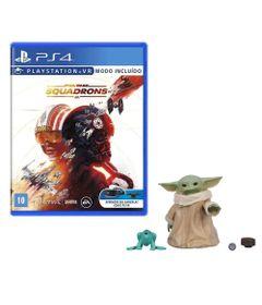 100442944-Kit-de-Jogo-PS4---Star-Wars-Squadrons-e-Mini-Figura---Mandalorian---Baby-Yoda-Frente