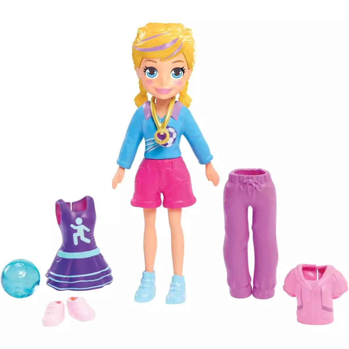 Boneca Polly Pocket Estrela de Futebol -  GDL97 - Mattel