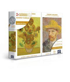 Quebra-Cabeca-Combo---Vincent-Van-Gogh---Retrato-e-Girassois---2000-Pecas---Game-Office---Toyster-0