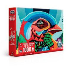 Quebra-Cabeca-Metalizado----Game-Office---1000-Pecas---Passaro-em-Cores---Toyster-0