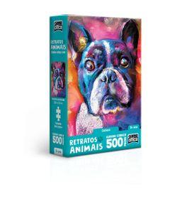 Quebra-Cabeca---Game-Office---500-Pecas---Nano---Retratos-Animais----Cachorro---Toyster-0
