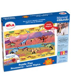 Quebra-Cabeca---100-Pecas---Manual-do-Mundo---Dinossauros---Elka-0