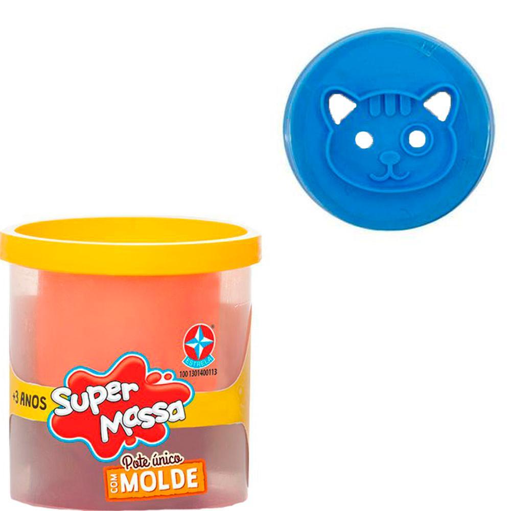 Super Massa Pote Único Com Molde Gatinho Azul Estrela 3+