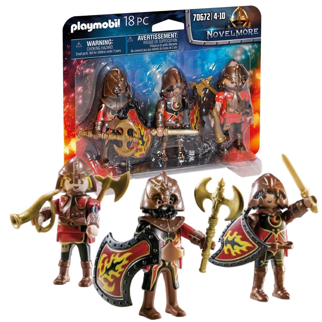 Playmobil - Pack 3 Figuras Corsarios Burnham Novelmore 70672