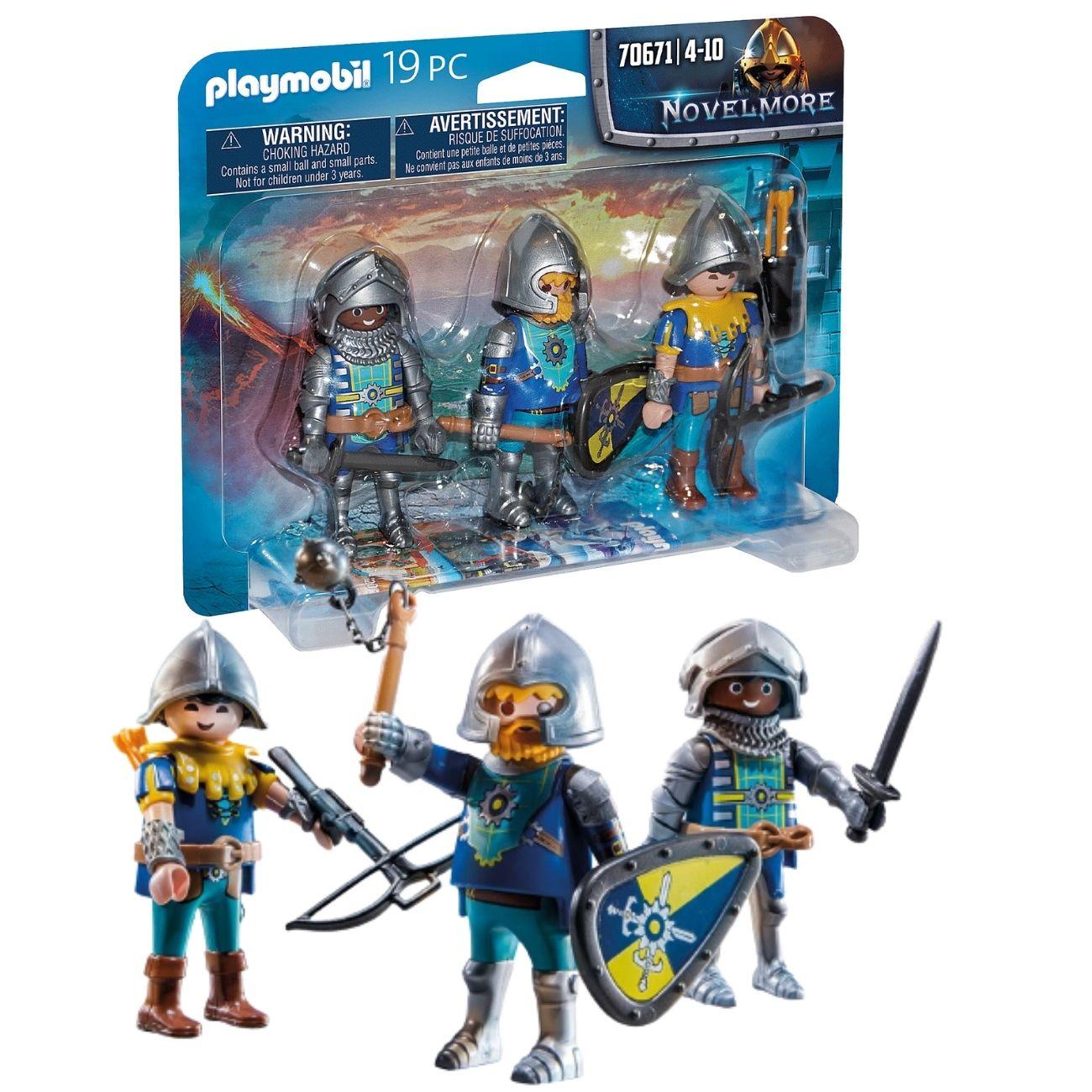 Playmobil - Pack 3 Figuras Cavaleiros Novelmore - 70671