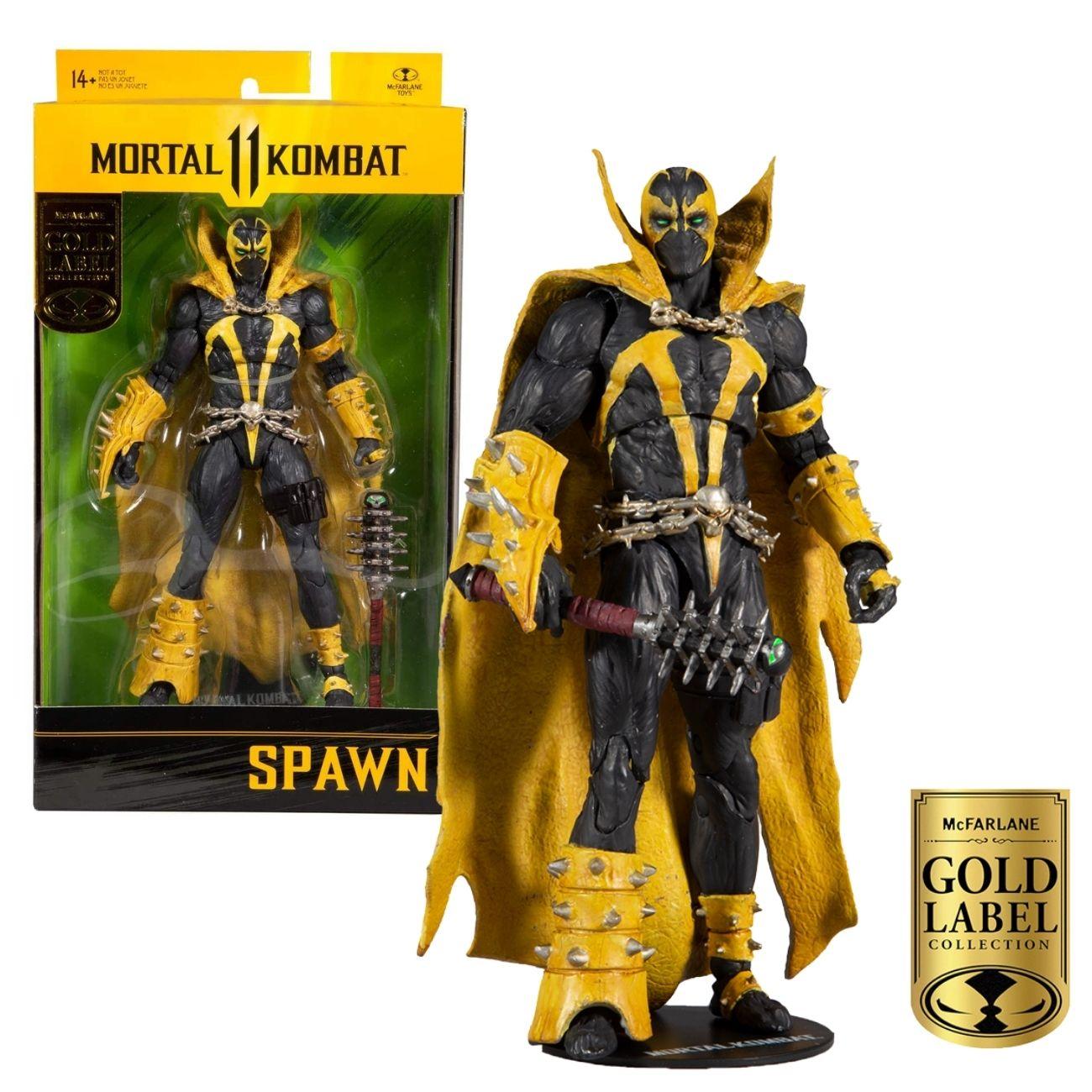 Boneco Spawn Gold Label - Mortal Kombat 11 Figure Mcfarlane