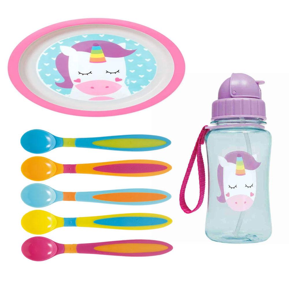 Kit de Alimentação Animal Fun - Unicórnio - 7 Peças - Buba