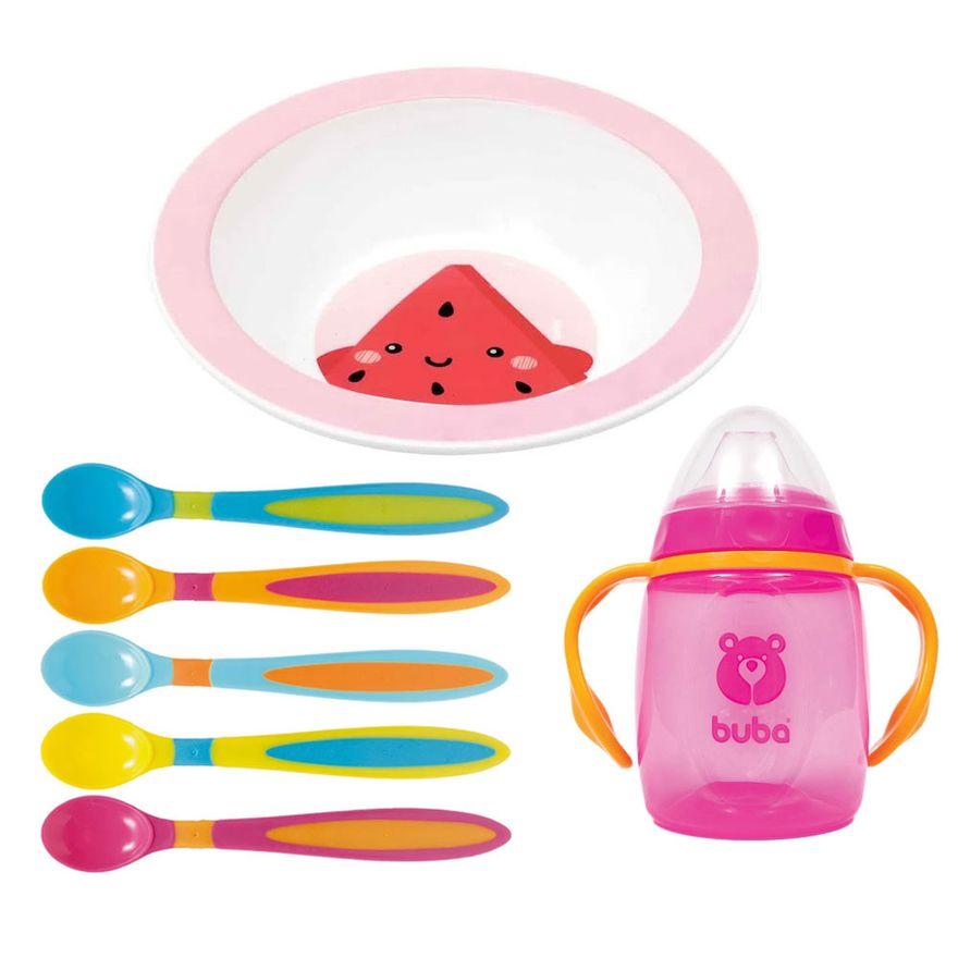 Kit-de-Alimentacao-Frutti---Melancia---7-Pecas-com-Bowl---Buba