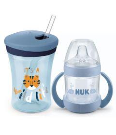 Kit-de-Copos-NUK---150-Ml-e-230-Ml---Boys---Azul