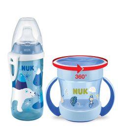 Kit-de-Copos-NUK---160-Ml-e-300-Ml---Boys---Urso-Polar