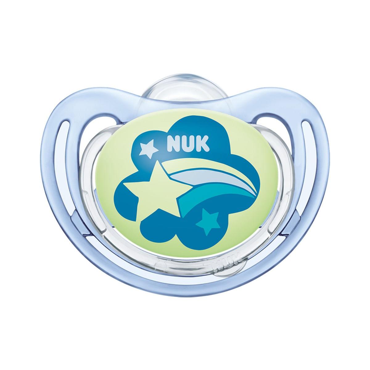 Chupeta Freestyle Boy Clean Estrela Azul S3 - NUK