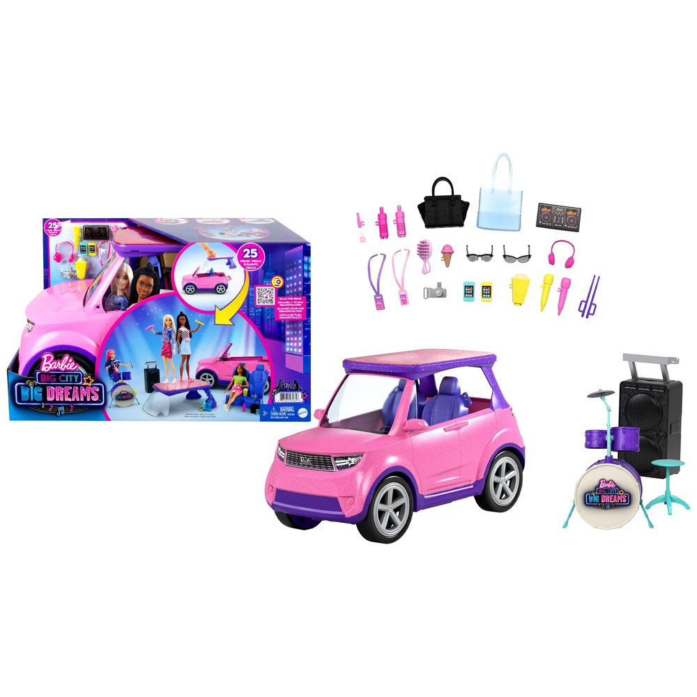 Carro da Barbie - Dreamhouse Adventures - Veículo SUV - Concerto de Música - Mattel