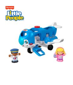 Veiculos-Grandes---Little-People---Aviao---Azul---Fisher-Price-0