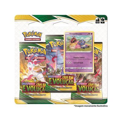 Jogo-de-Cartas---Pokemon---Blister-Triplo---Slowpoke----Ceus-em-Evolucao---Copag-0