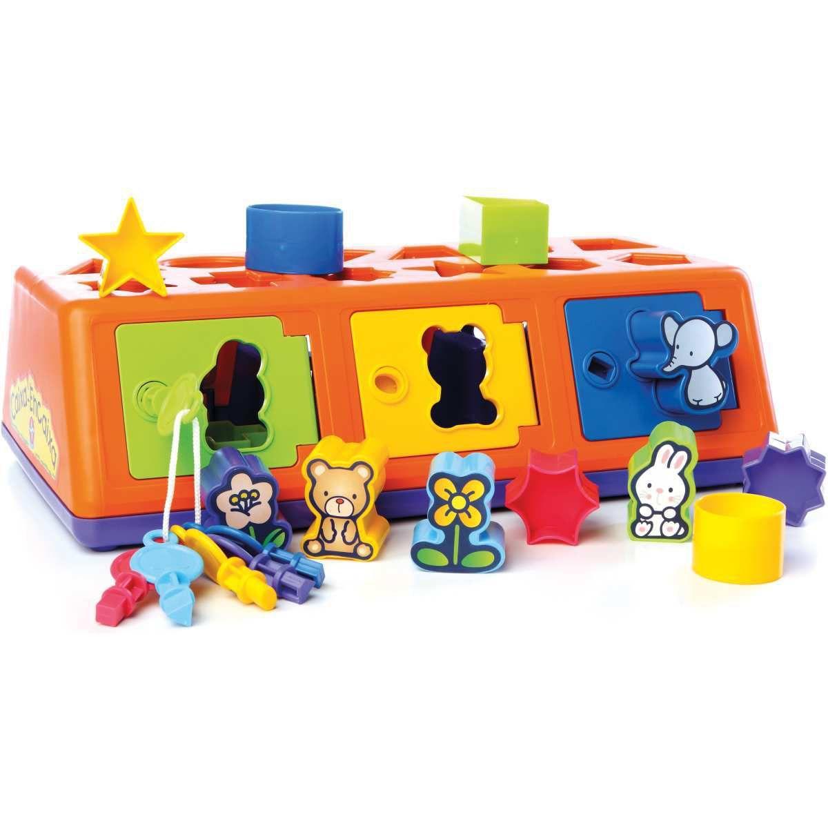 Jogo Caixa Encaixa Estrela 1104000005 Educativo Pedagógico Blocos e Formas Infantil Coordenação Motora Raciocinio Logico Criança